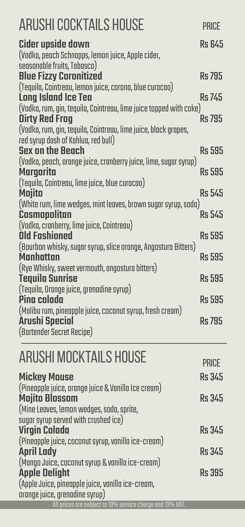 Arushi Cocktail House