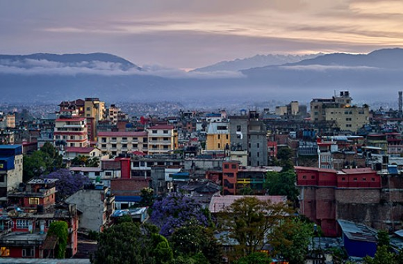 panoramic kathmandu valley from Marpha Restaurant and bar