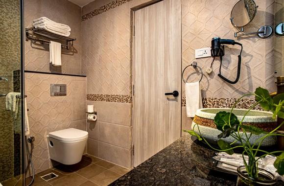 restroom in deluxe room
