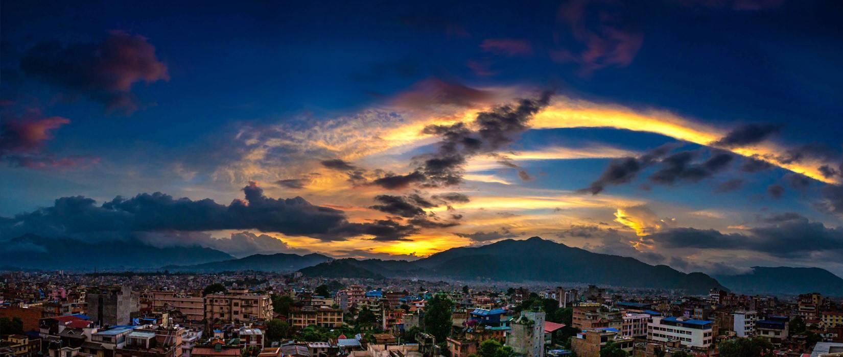 skyline as seen from Marpha Bar